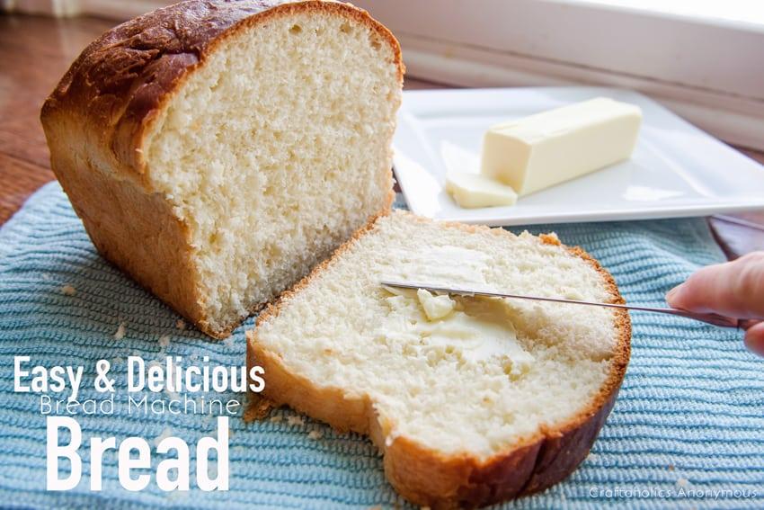 Homemade bread in a bread machine