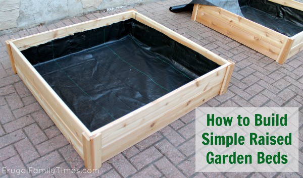How to build your own simple raised garden beds