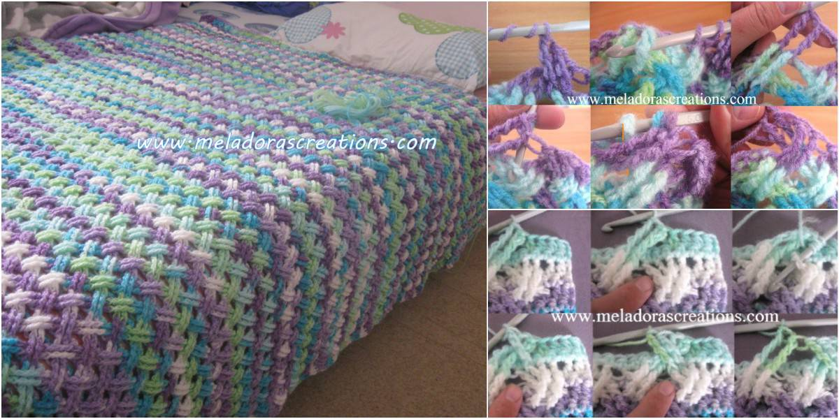 Interweave celtic stitch blanket