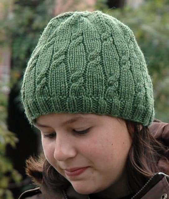 Knotted rib hat