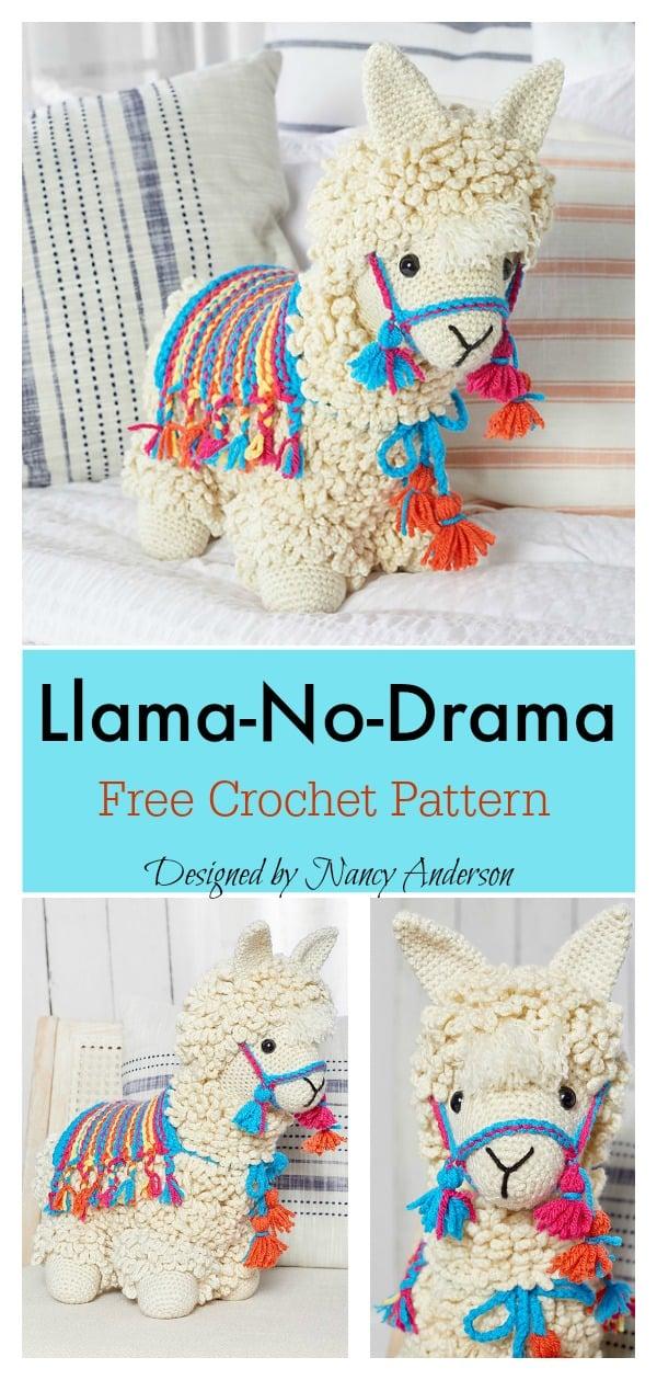 Llama no drama amigurumi free crochet pattern