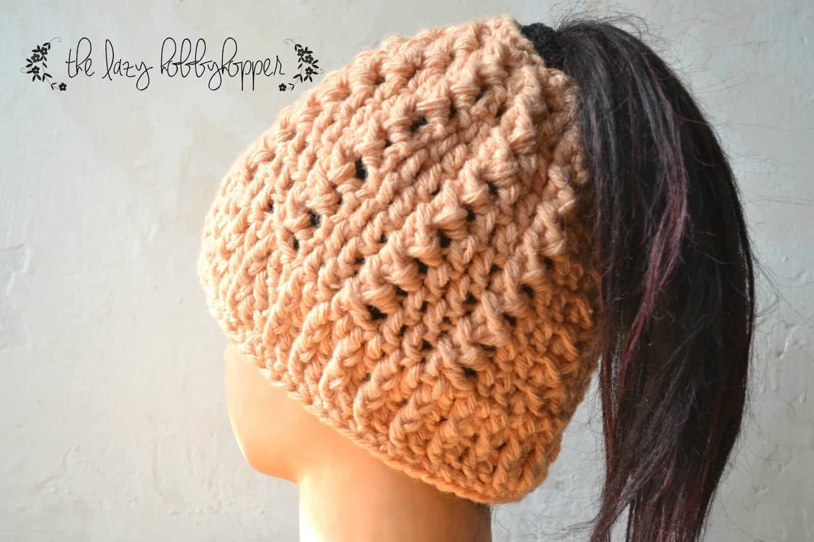 25 Crochet Ponytail Hats