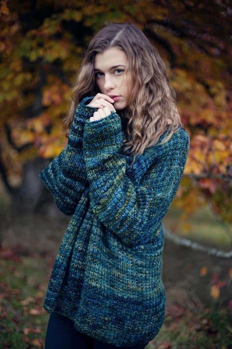Mystery green sweater