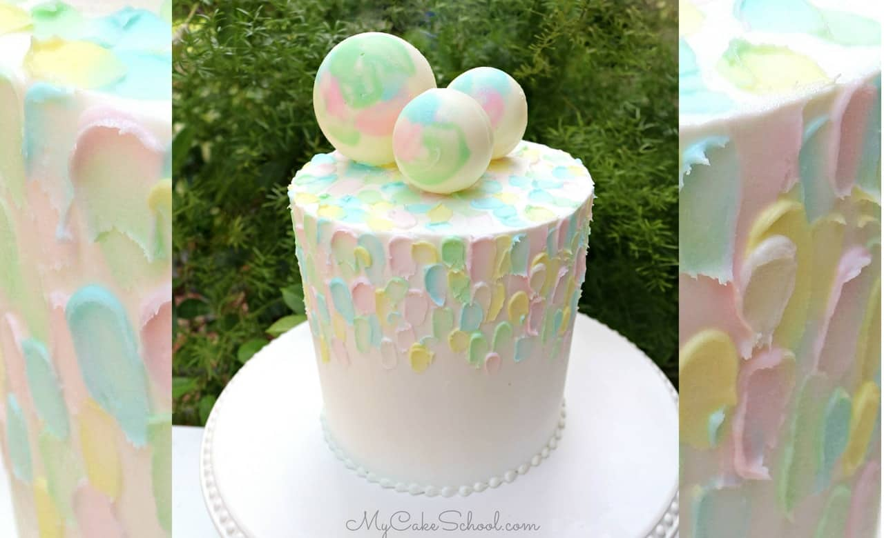Painted buttercream and chocolate spheres my cake school tutorial