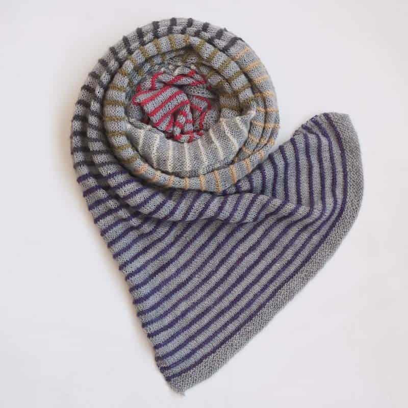 Pinstripe scarf
