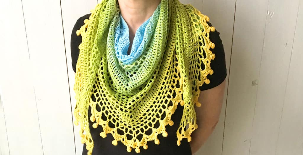 Pom pom happiness shawl