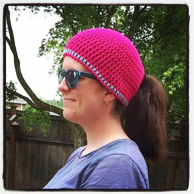 Ponytail beanie by danyel pink designs