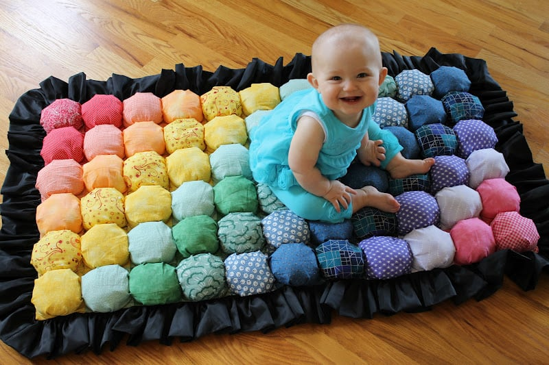 Poofy bubble quilt