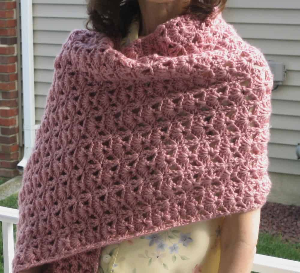 Princess diana vintage crochet shawl