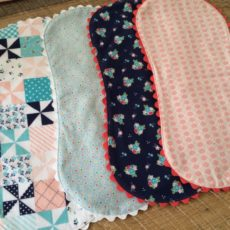 Quilted flannel burp blanket