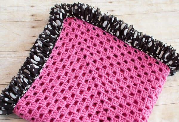 Ruffled edges baby blanket