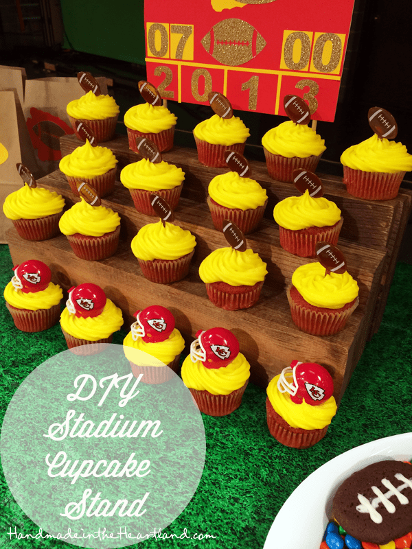 Stadium seating football cupcakes