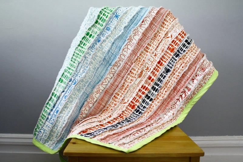 Stripey rag quilt