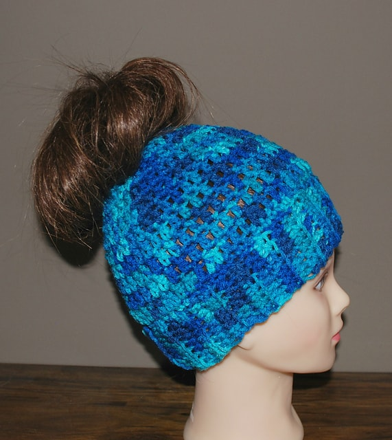 Super simply ponytail hat