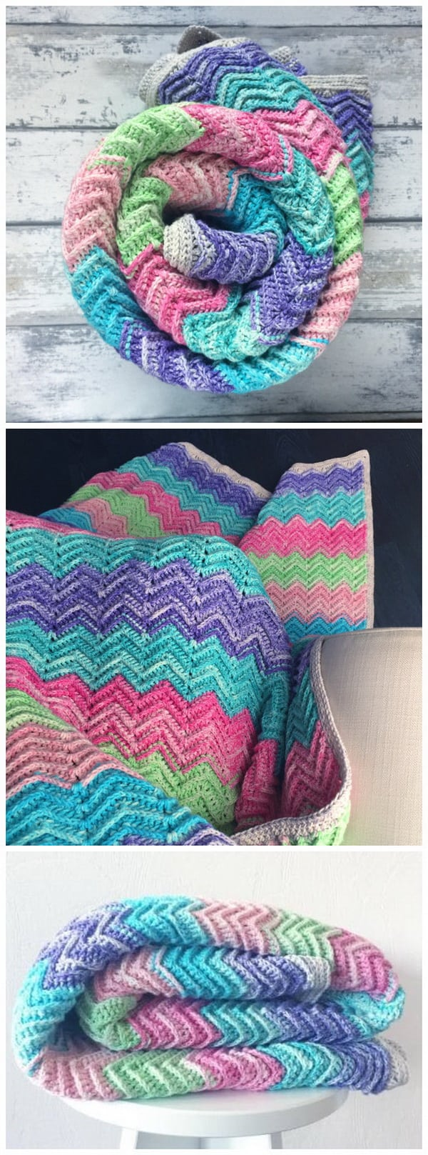 Textured chevron blanket