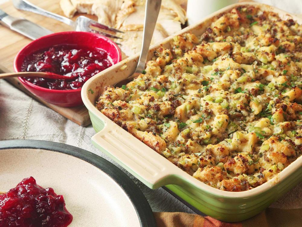 Thanksgiving sausage stuffing classic sage and sausage stuffing