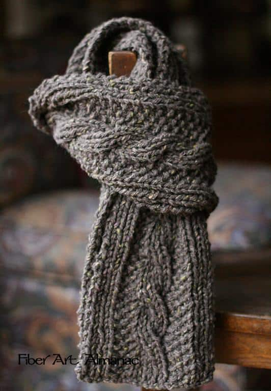 Watching british mysteries on netflix scarf
