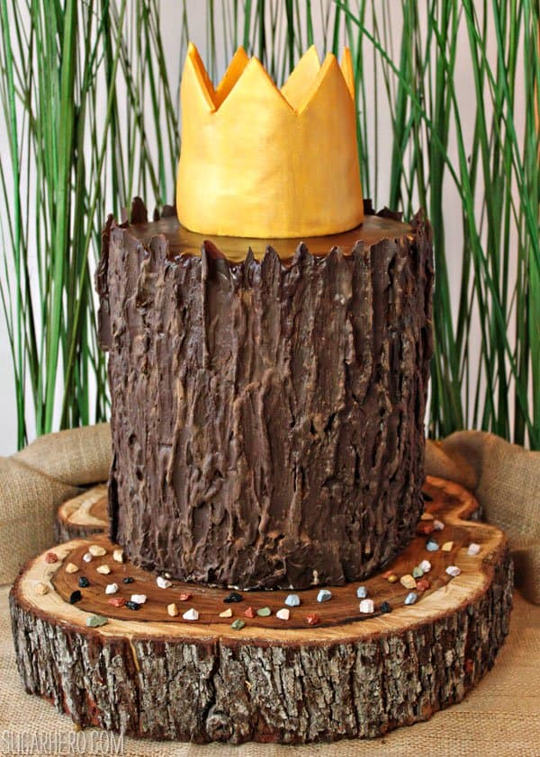 Where the wild things are inspired stump cake