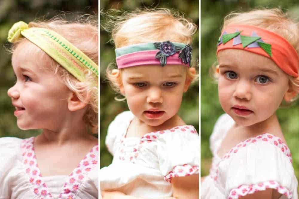 Baby headband sewing projects