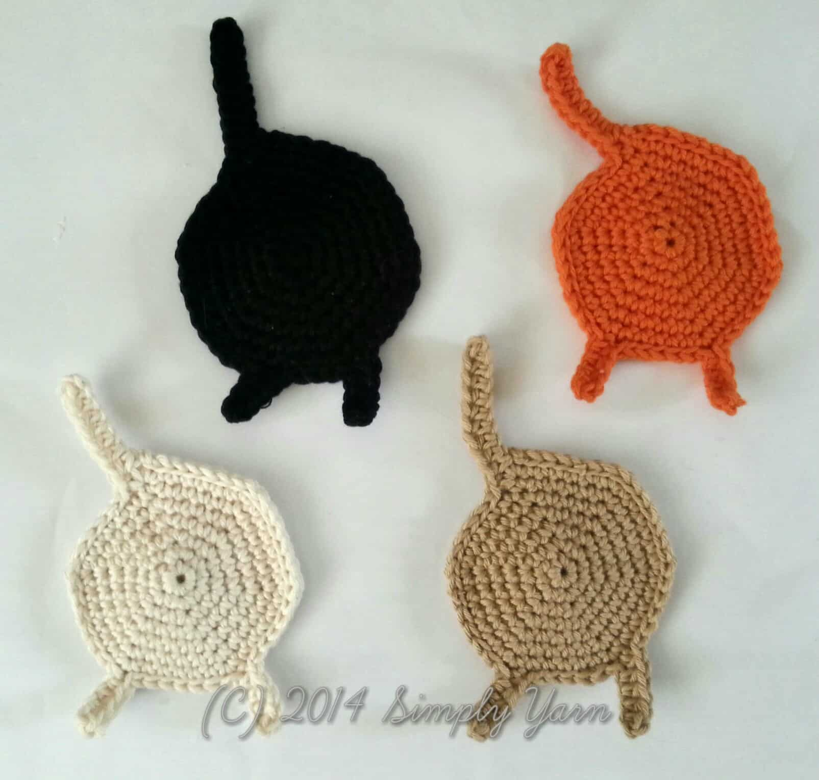 Diy crochet cat coasters