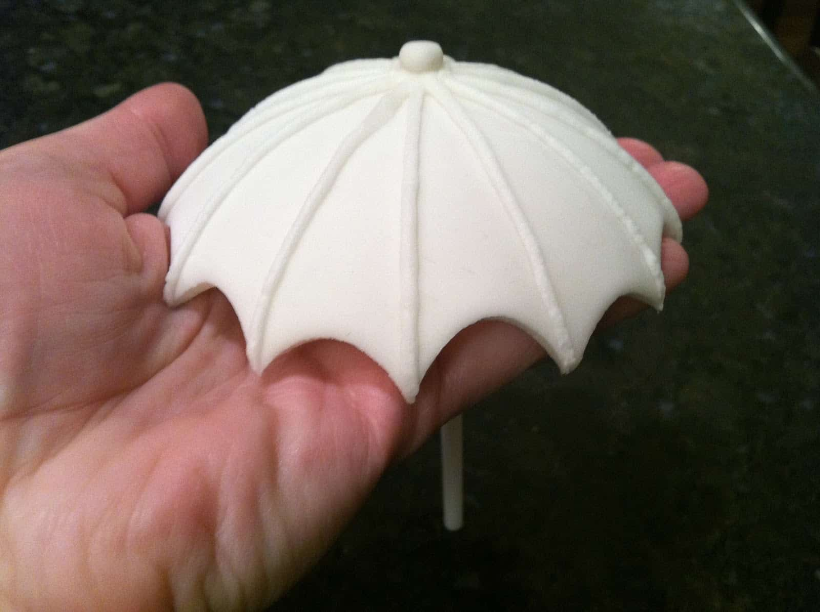 Diy gum paste umbrella