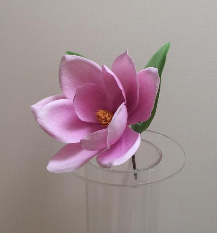 Diy magnolia gum paste flower