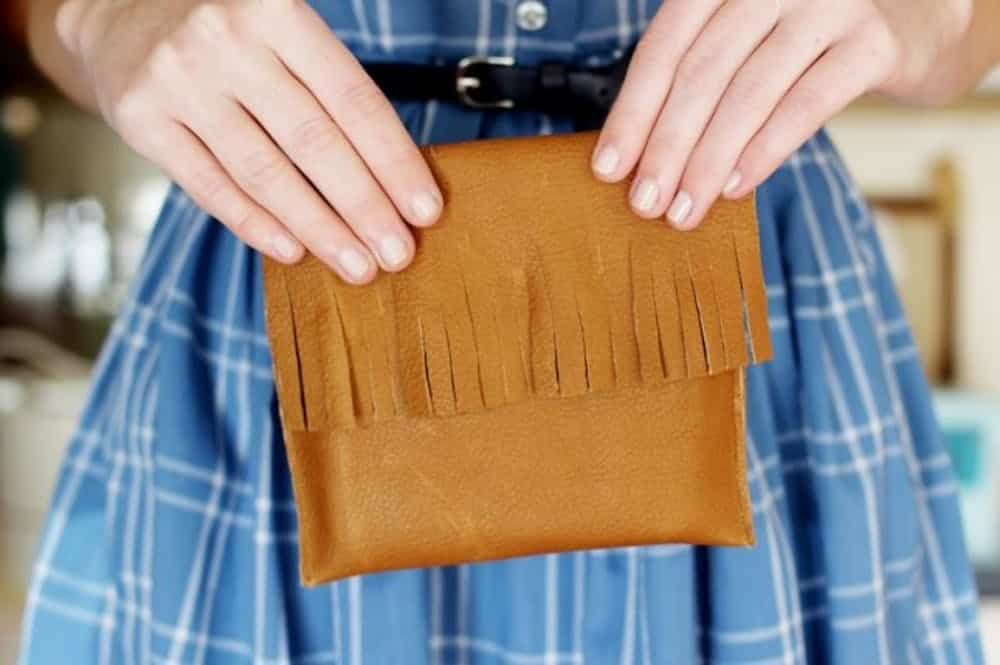 Fringe purse sewing project