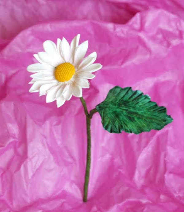 Gum paste daisy diy 2