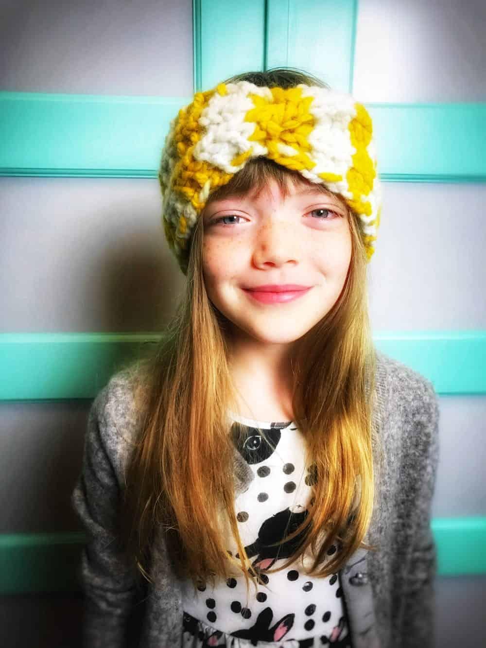 Headband knit pattern