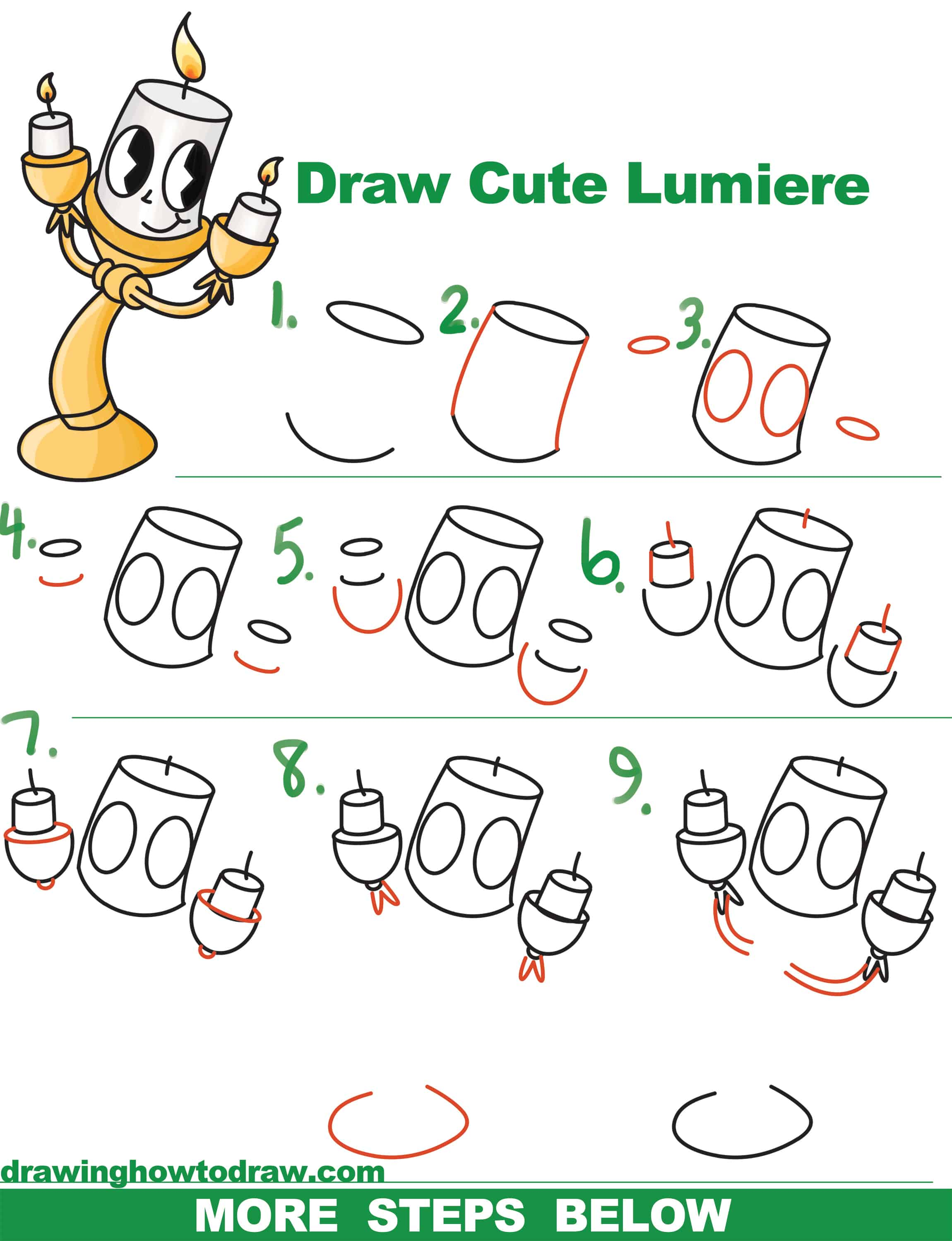 How to draw cute lumiere