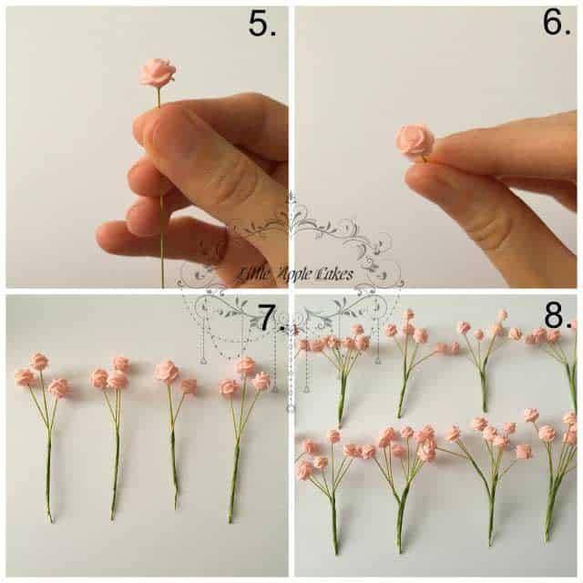 Mini gum pasta roses