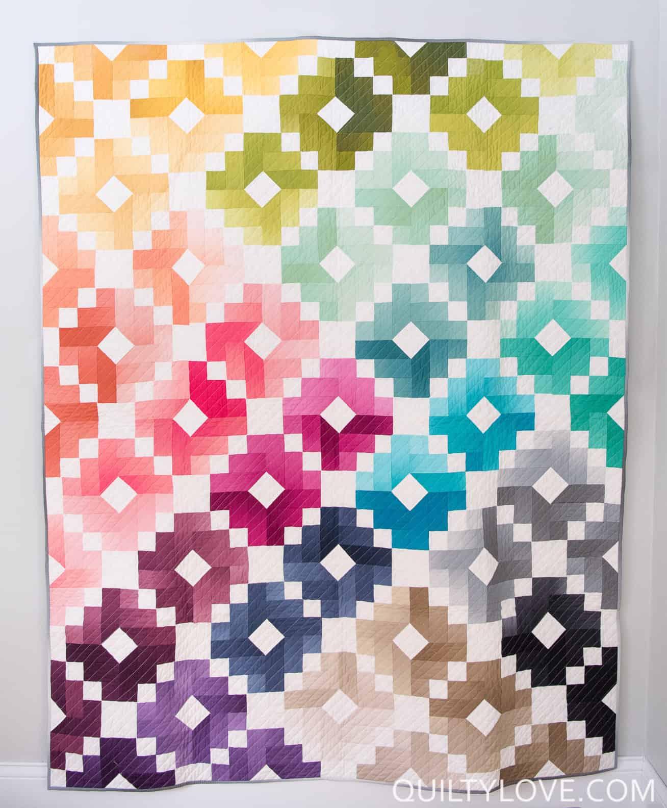 Ombre gem quilt pattern