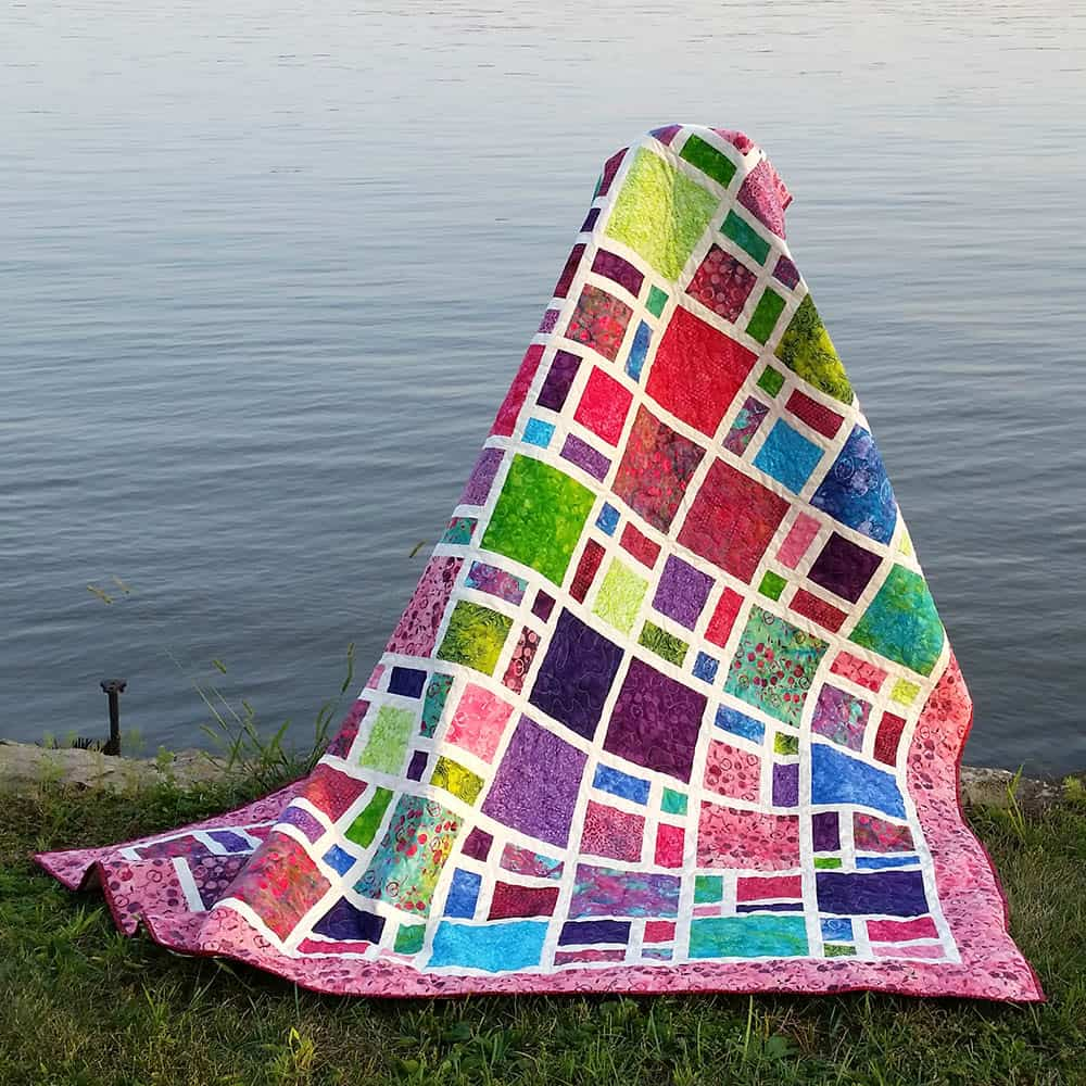Scattered quilting pattern
