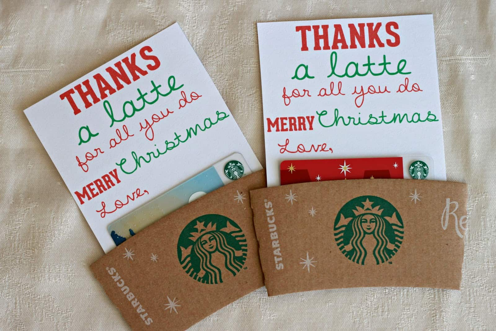 Thanks a latte coffee gift
