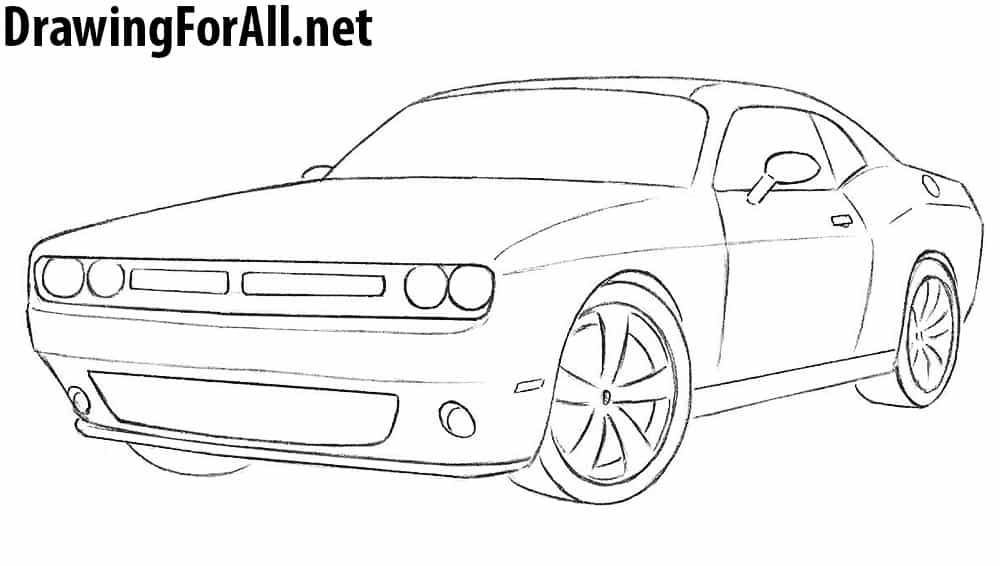 8 how to draw a dodge challenger