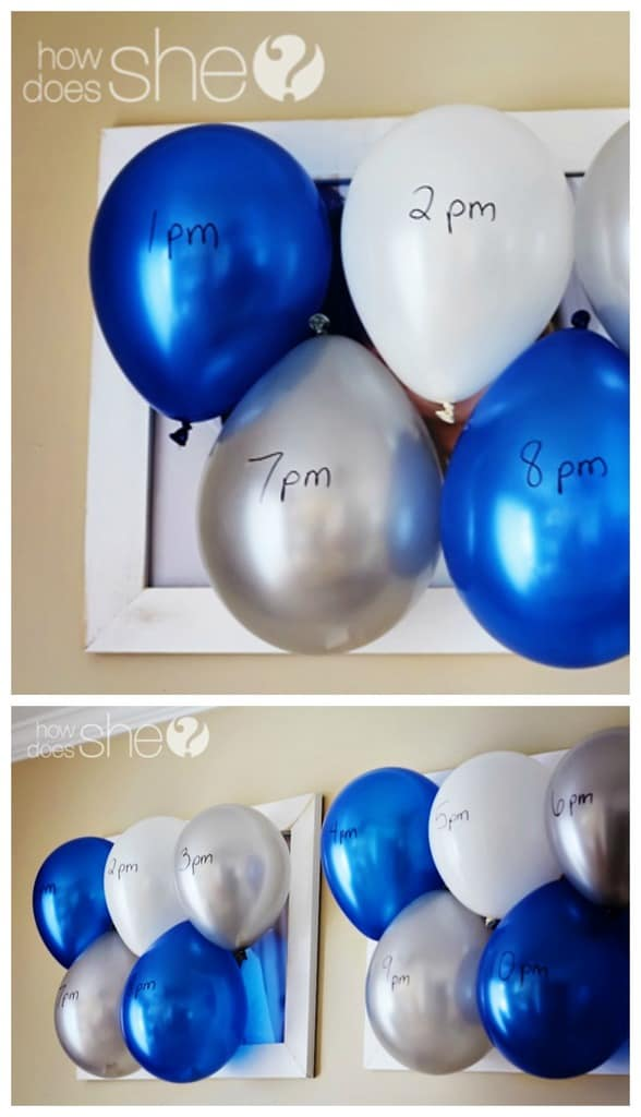 Balloon popping countdown