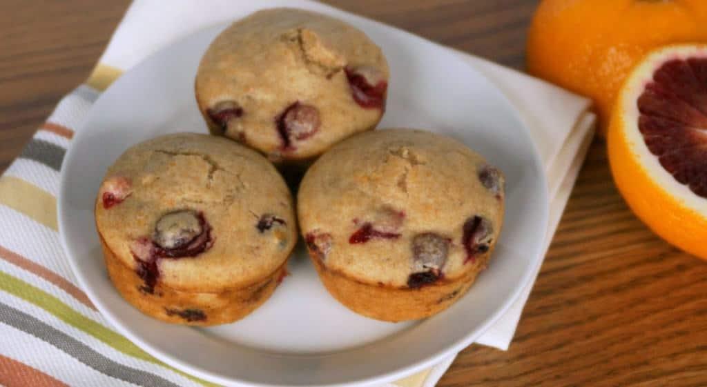 Blood orange cranberry muffins