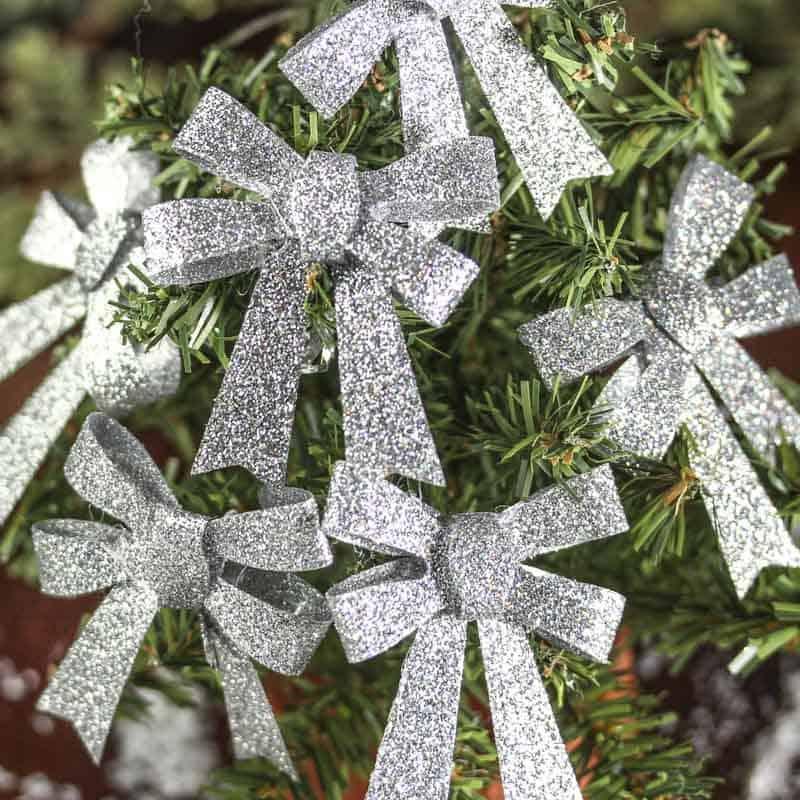 Christmas glitter gift bows