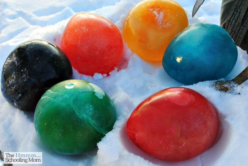 Colourful christmas balloon marbles