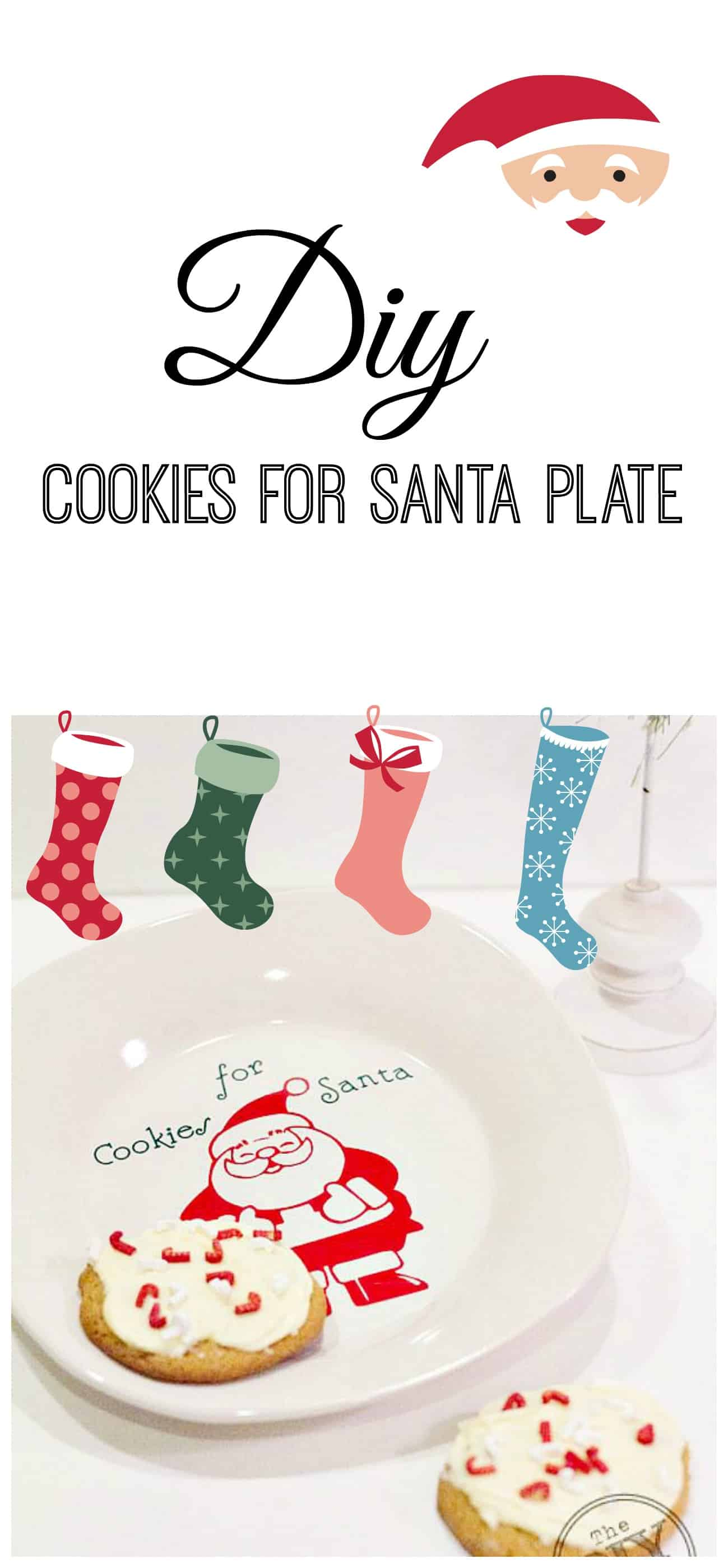 Cookies for santa diy plate