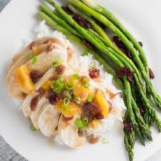 Cramberry apricot chicken