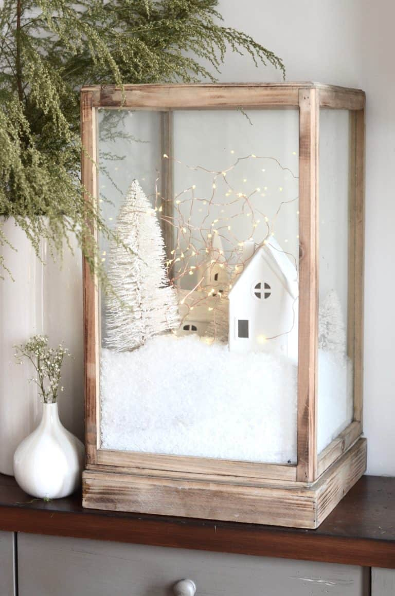 Diy christmas village terrarium