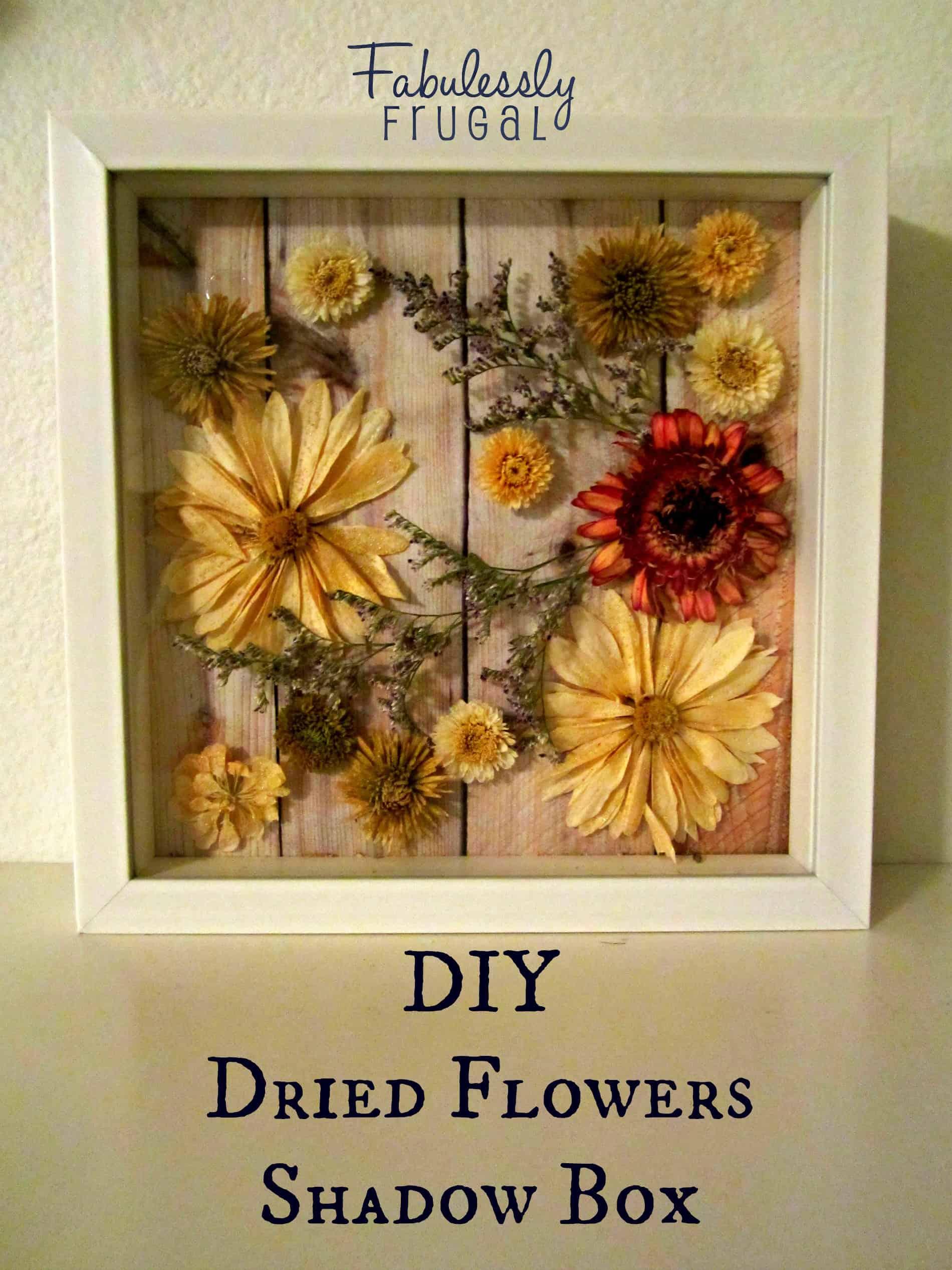 جعبه سایه گل های خشک شده DY