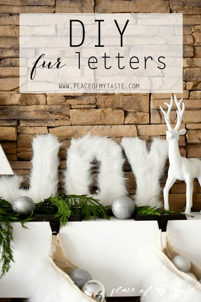 Diy faux fur block letters