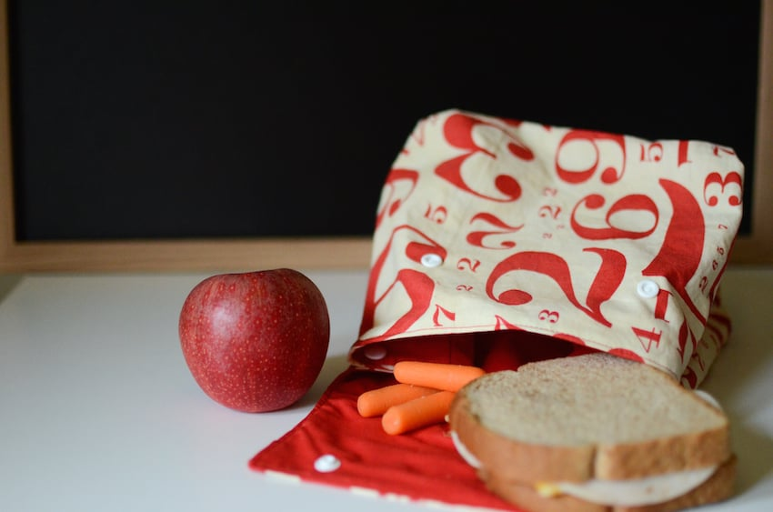 Diy reusable lunch sack