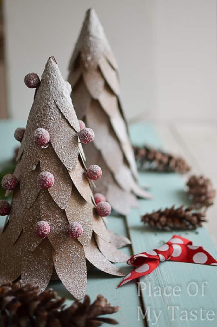 Diy unusual paper christmas tree