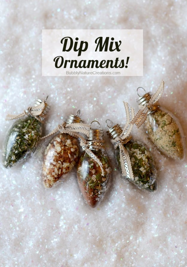 Dip mix ornaments