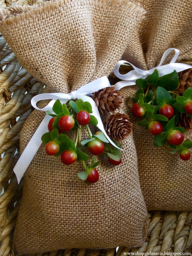 Easy burlap treat bags