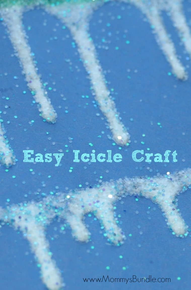 Easy icicle row craft