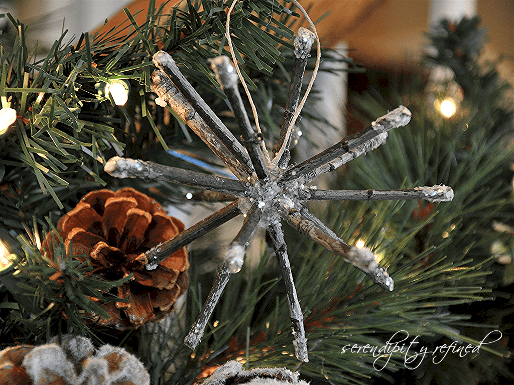 Frosted twig ornament